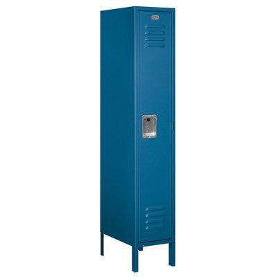 Salsbury Industries Assembled 1-Tier Standard Metal Locker with One Wide Storage Unit, 6-Feet High by 12-Inch Deep, Blue by Salsbury Industries