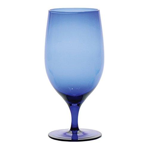 D&V Glass Gala Collection Goblet/Beverage Glass 15 Ounce, Cobalt, Set of 12 by D&V
