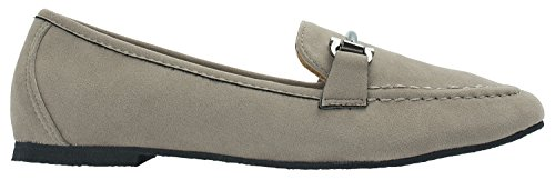 Womens Faux Suede Classic Horsebit Loafer Moccasin Taupe AdBWyby8w