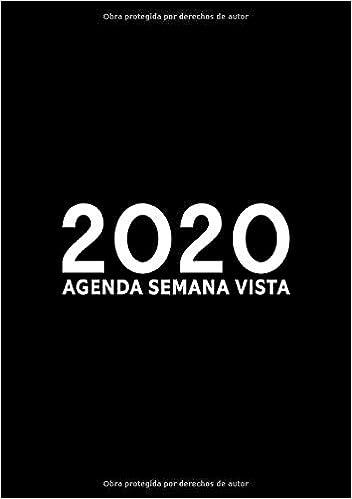 Agenda 2020 semana vista: Del 1 de enero de 2020 al 31 de ...