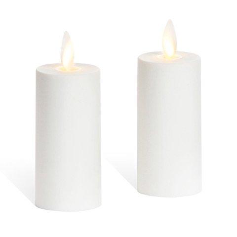 """Set of 2 Luminara Votive Flameless Candles:  1.75""""x3"""" Ivory"""
