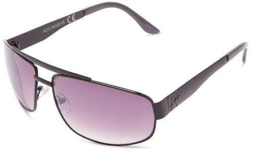 Rocawear Men's R935 Gun Navigator Sunglasses,Gun Frame/Gradient Smoke Lens,One - Sunglasses R Logo
