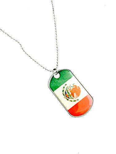 Mexican Flag Cinco De Mayo Dog Tag Necklace (Mexico)
