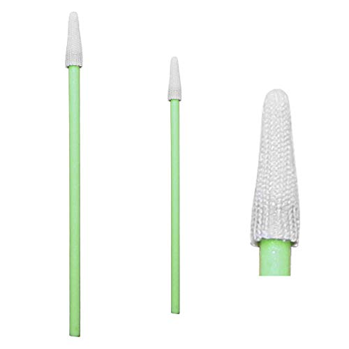 100pcs 2.95 Pointed Tipped Cleanroom Microfiber Swabs for Hard Disk, Optic Lens/PCB/BGA/Electronics/Semiconductor Instrument CK-MS750 (100)