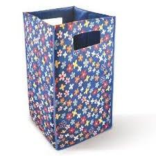 Bonita LB04-80BF Peppy Laundry Basket, Blue Flower