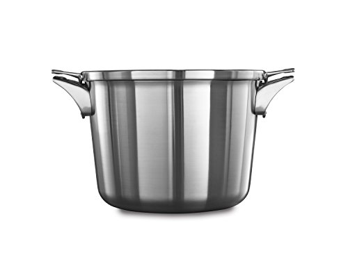 (Calphalon Premier Space Saving Stainless Steel 8qt Stock Pot with Cover)