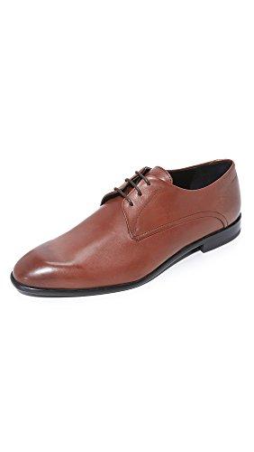 HUGO by Hugo Boss Men's Dress Appeal C-Dresios Calf Leather Lace up Derby Work Shoe, Medium Brown, 10.5 M - Men Hugo Uk Boss