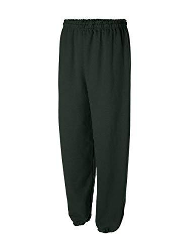 G182 Gildan 7.75 oz. Heavy Blend 50/50 Sweatpants - Forest Green M