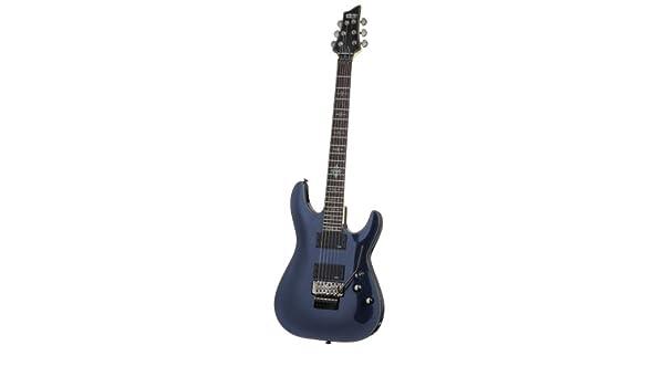 Schecter Damien Elite Guitarra eléctrica fr - oscuro metálico azul: Amazon.es: Instrumentos musicales