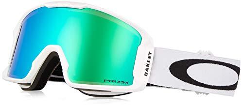 Oakley Line Miner Snow Goggle, Matte White, Medium, Prizm Jade Iridium -