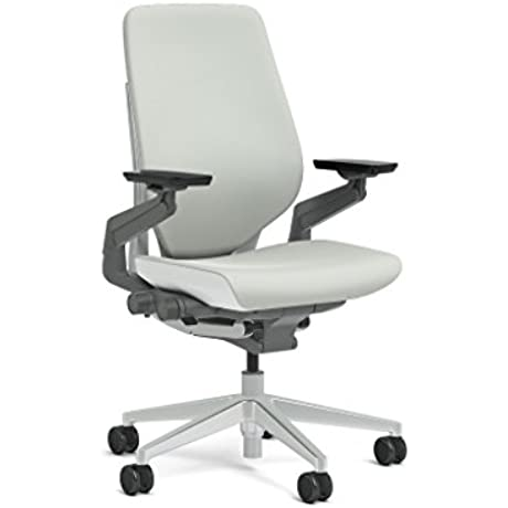 Steelcase Gesture Task Chair Shell Back Platinum Metallic Frame Base Seagull Accent Standard Carpet Casters