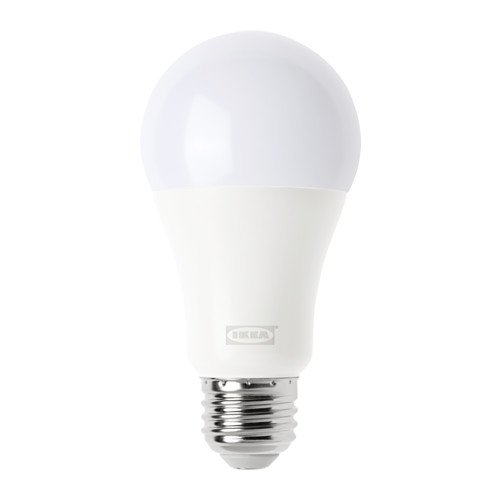 TRÅDFRI LED bulb E26 1000 lumen, wireless dimmable, warm white globe opal