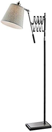 Lite Source Caprilla Brushed Nickel Extendable Floor (Lite Source Chrome Adjustable Floor Lamp)