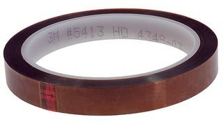 3M 5413 Polyimide Film Electrical Tape, 36 yds Length x 1/4'' Width, Amber