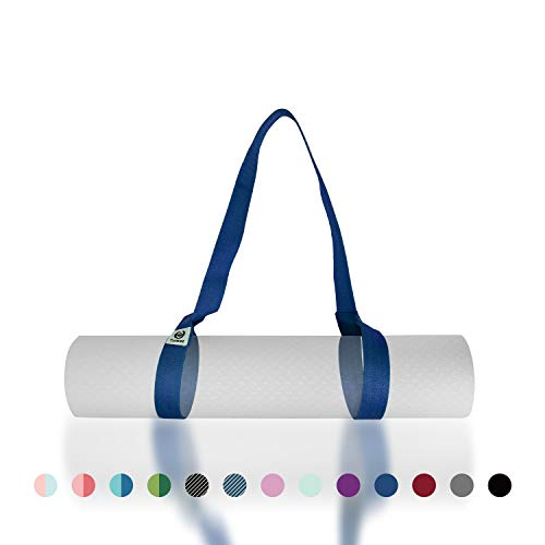 Tumaz Yoga Mat Strap, Adjustable Mat Carrier Sling & Stretching Strap with Thick, Durable and Comfy Delicate Texture, 64 & 85 Inches, Multiple Color Choices [Mat NOT Included]
