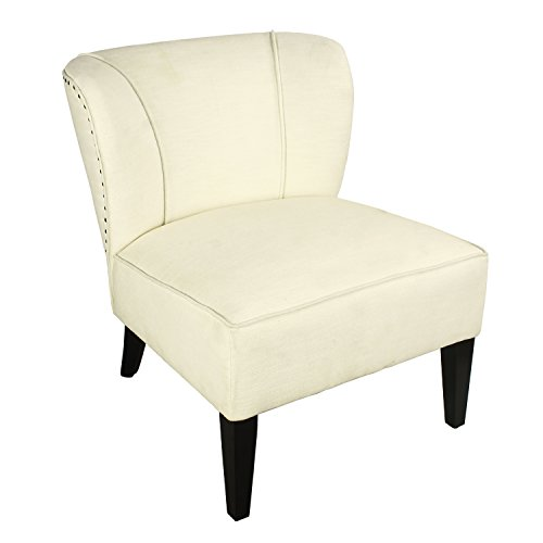 Joveco Fabric Leisure Chair, White