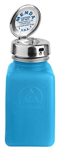 Menda 35286 Pure Take Locking Liquid Dispenser Pump Bottle, ESD Safe, 6 oz. Dissipative, HDPE/Stainless Steel, Blue (Pump Menda)