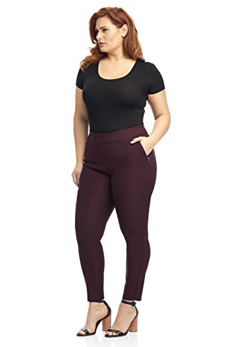 Rekucci Curvy Woman Ease in to Comfort Fit Modern Skinny Plus Size Pant w/Tummy Control