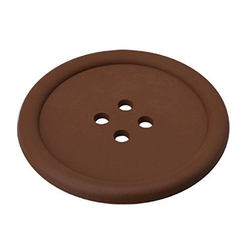 Cup Coaster,Leegor 4pcs Cut Silicone Button Coaster Cup Cushion Holder Drink Placemat Mat (Coffee)
