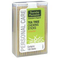 (Tea Tree Chewing Sticks Dual Pack - Cinnamon Thursday Plantation 100 + 100 Toothpick by Nature's Plus)
