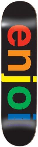 (Enjoi Spectrum Skateboard Deck, Black, 31.7