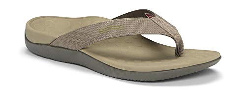 Vionic Unisex Wave Toe Post Sandal, 8 B(M) US Women / 7 D(M) US Men, (Khaki)