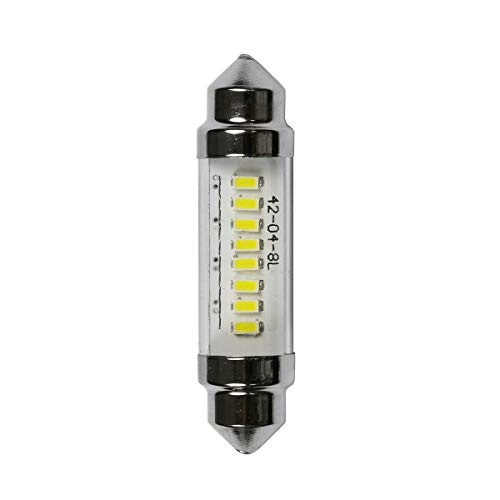 FC1142-12V-3KCL Warm-White 3000K - 12 Volts, LED Festoon Bulb, Festoon End Caps