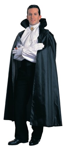 [Rubie's Costume Full Length Cape Costume with Stand Up Foam Collar, Black, One Size] (Black Men Halloween Costume)