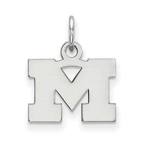 Sterling Silver LogoArt Michigan (Univ Of) XS Pendant