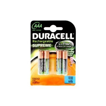 Duracell Rechargeable Nimh AAA Batteries, 4-pack