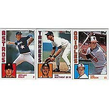 1984 Topps Baseball Complete Mint 792 Card Set with Don Mattingly and Darryl Strawberry Rookies -