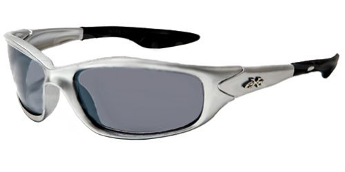 Kids K20 Sunglasses UV400 Rated Ages 3-10 (Silver & Smoke)