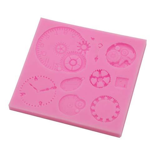 Gear Clocks Fondant Mold Silicone Chocolate Candy Making Mold Cake Decorating Mold Clay Handmade Baking Mold