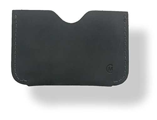 Leather Card Holder by Modern Carry - Magnum (Midnight Grey Horizontal Card Sleeve)