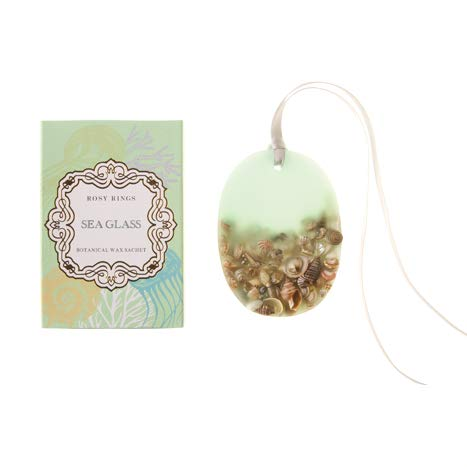 Rosy Rings Oval Botanical Wax Sachet - Sea Glass