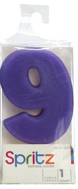 Spritz Molded # 9 Birthday Candle Purple (1 (Abc Toy Story Halloween Special)