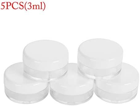 lakamier 5PCS 3/5/10/15ml Beauty Travel Household Storage Box Cosmetic Vials Makeup Jar Face Cream Container Sample Bottle(5PCS(10ml))