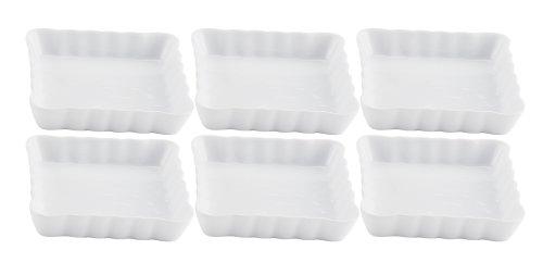 Square Creme Brulee Dish, Porcelain, 4.5-Inch, Set of 6