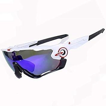 DAYANGE Gafas de Ciclismo polarizadas MTB 5 Lentes Gafas de Sol de Ciclismo Gafas de Deporte Hombres Mujeres Montaña Bicicleta Ciclismo Gafas, D: Amazon.es: ...