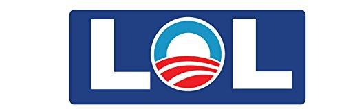 "CAR MAGNET: LOL Anti Obama - 3"" x 7"""