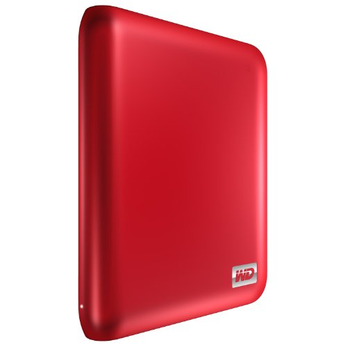 WD My Passport Essential SE 750 GB USB 3.0/2.0 Ultra Portable External Hard Drive (Metallic Red)