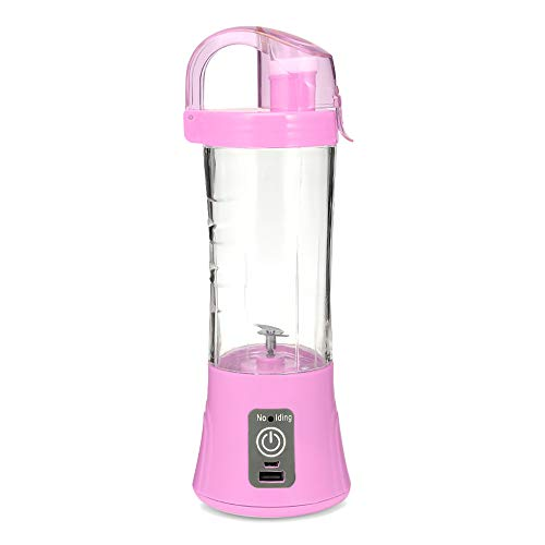 Ink 380 - INK HOME Portable Blender 380ml USB Rechargeable Blender Mixer Portable Mini Juicer Juice Machine Smoothie Maker Household Small Juice Extractor Crush for Shakes and Smoothies,Pink