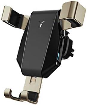 車の電話ホルダー、カーナビゲーションブラケットアウトレットナビゲーターユニバーサルブラケット重力 (色 : ゴールド)