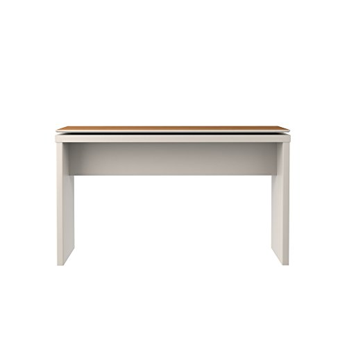 Manhattan Comfort Lincoln Collection Contemporary Accent Rectangular Entryway Sideboard Table With Floating Top, White/Wood Top