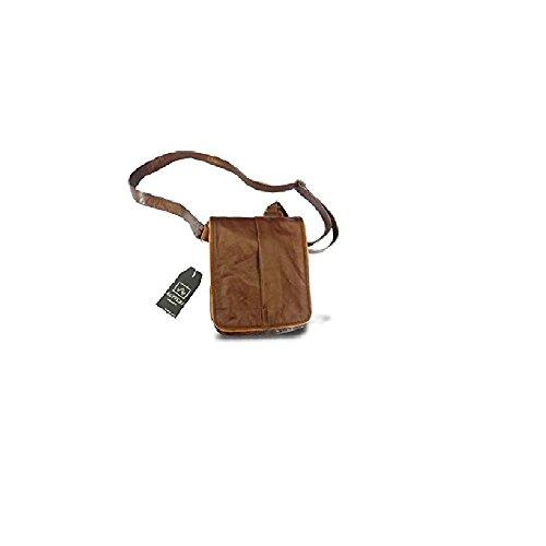 Borsello messenger in pelle -Vero Artigianato italiano -L18xH20xP6 cm MOD : Mini Boss brown