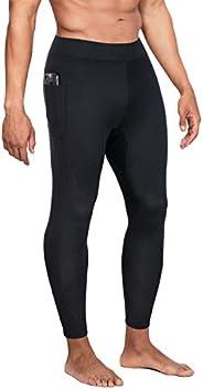 Gotoly Men Sauna Sweat Pants Neoprene Fitness Workout Thighs Compression Leggings with Side Pocket Slimming Ho