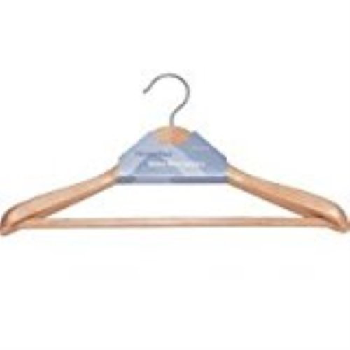 'HOMEBASIX HEA00046G-N Premium Suit Hanger, Natural' from the web at 'https://images-na.ssl-images-amazon.com/images/I/31G8HlaE8BL.jpg'