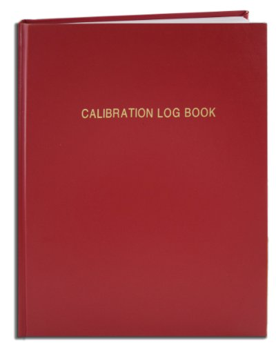 BookFactory Calibration Log Book / Equipment Calibration Logbook - 120 Pages, 8'' x 10'', Red Imitation Leather Cover, Smyth Sewn Hardbound (LOG-120-SCS-A-LRT61-(Calibration)) by BookFactory