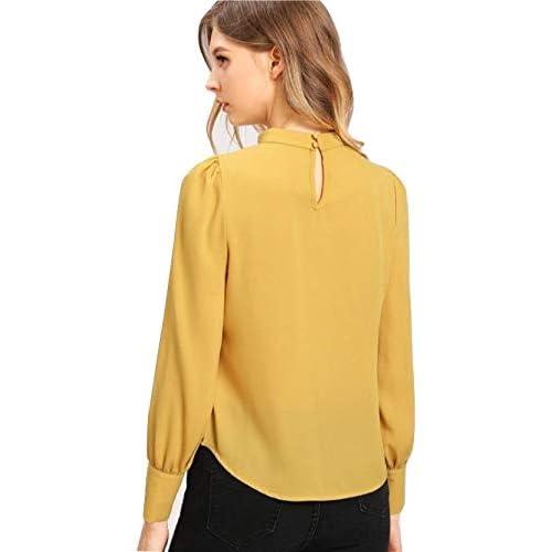 31G8IEdRI9L. SS500  - Alfa Fashion Party Solid Puffy Sleeve Self Design Women's Western Casual Top