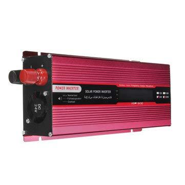 (2000W DC 12V/24V to AC 220V/110V Solar Power Inverter Modified Sine Wave LCD Voltage Display - Electrical Equipment & Supplies Power Inverter -)